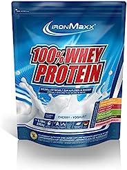 IronMaxx * 乳清蛋白 – 2350 克袋裝 – 47 份 – 櫻桃酸奶 – 高品質蛋白質粉 – 溶解水 – 36 種美味美食 – 德國設計