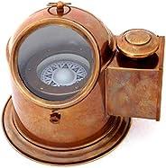 JD'Z COLLECTION 海洋双城复古船海上黄铜指南针航海船古董万向节指南针 15.2