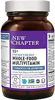 New Chapter 50+ 男士多元維生素 - 每日 55+,含有發酵益生菌+全食物+蝦青素+維生素D3 + B群維生素 - 72粒