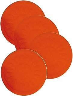 Aidapt 防滑圆形硅胶杯垫 - 直径 4-9 厘米 (红色)