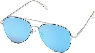 sojos 经典飞行员镜面平面镜片太阳镜金属框架带弹簧铰链 sj1030