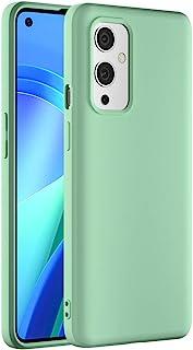 Cresee 兼容 OnePlus 9 5G 手机壳,薄硅胶套,带超细纤维内饰防刮超薄贴合弹性手机壳,适用于 OnePlus 9,*