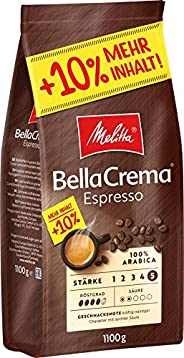 Melitta 咖啡全豆 纯阿拉比卡咖啡豆,强烈辛香型,强度4-5,BellaCrema Espresso,1100g