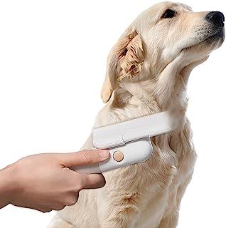 宠物刷可调节角度梳子自清洁脱落,去除松散的底层,柔软的狗和猫*刷,适用于长发宠物,有效减少脱落