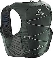 SALOMON 萨洛蒙 防水马甲 背包 ACTIVE SKIN 8 SET (Active Skin 8 套装), GREEN GABLES/Alloy, L