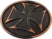 复古铜绿铜雕刻十字架替换皮带扣