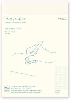 Designphil Midori 笔记本 MD笔记本 A5 报纸 圆点方格花纹 15259006