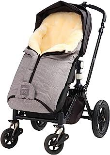 Naturally Sheepskins 高品质小羊皮脚套 适用于婴儿车,线性灰色