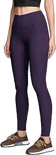 ATIKA 女式高腰瑜伽裤带口袋,收腹瑜伽紧身裤,4 向弹力锻炼跑步紧身裤