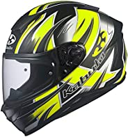 OGK KABUTO 摩托车头盔 全盔 AEROBLADE5 HURRICANE 平款 黑色黄色 (尺寸:XXL)586881
