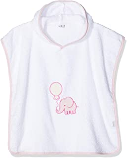 Playshoes 女孩款 Frottee-Poncho Elefant 浴袍