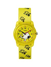 TIMEX 男孩時間機器模擬彈性面料表帶腕表