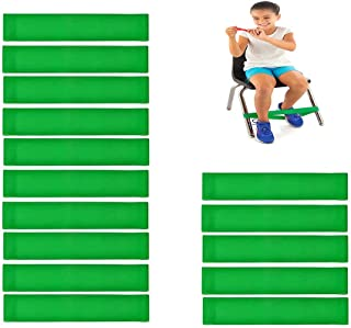 Fidgety *儿童椅带,15 条弹力脚带,天然乳胶弹性椅,Fidget 带学生带Fidget 脚,适合儿童,带* SPD(*)