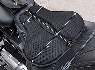 SKWOOSH 经典鞍形摩托车凝胶座椅缓冲凉爽网眼透气面料 | 配件 | 美国制造 长 黑色 CLASSICSADDLE