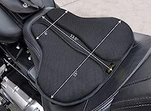 SKWOOSH 经典鞍形摩托车凝胶座椅缓冲凉爽网眼透气面料   配件   美国制造 长 黑色 CLASSICSADDLE