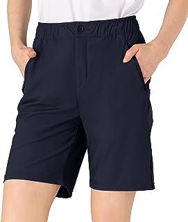 Rdruko 女式徒步短裤速干弹力高尔夫工装短裤