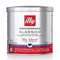 Illy 意利 咖啡,Classico Lungo特濃咖啡膠囊,中度烘焙,大包裝,6 x 21(共126粒膠囊),4.6盎司(約130.41克)
