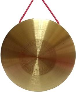 RUIMIMI Gong 打击乐器,青铜 Chau Gongs,中国铜 Feng Gong 带木打击器 8.7 英寸(22 厘米),Eastar Gong 大号功台铃 冥想 带槌 (8.7 英寸)