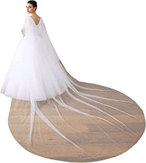 EllieHouse 长款薄纱肩新娘斗篷婚礼面纱斗篷 T42