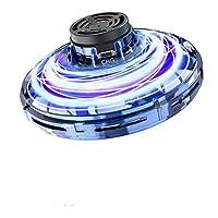 FlyNova 飞翔玩具,儿童及成年人互动手操作无人机,迷你感应运动飞机,360°旋转 LED 灯,适合室内外使用 小 蓝色