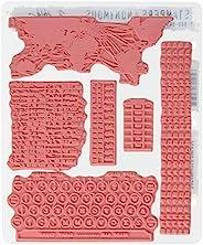 Stampers Anonymous Tim Holtz 吸附橡胶文印章套装,7 x 8.5 英寸