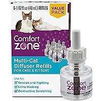 Comfort Zone Multicat 舒缓扩散器替换装,48 毫升 - 6 件装,180 天使用