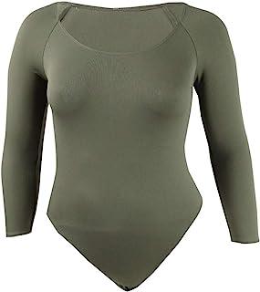 Bar III 女式低圆领七分袖连体衣