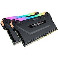 CORSAIR 海盗船 Vengeance RGB Pro 64GB (2x32GB) DDR4 3600 (PC4-28800) C18台式机内存 黑色