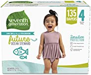 *七代自由清爽敏感肌肤婴儿尿布 带动物印花 4 135
