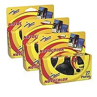 Novocolor – 一次性相机带闪光灯(27 个带闪光的曝光)3 件装