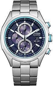 Citizen 西铁城 男式石英不锈钢表带,银色,22 休闲手表(型号:CA0430-54M)