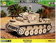 COBI Historical Collection SD.KFZ. 121 Panzer II Ausf. F型二号喷火坦克,多种(2527)