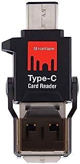 Strontium USB C Type-C Micro SD SDHC SDXC Tf 读卡器 USB 3.0 适用于 Macbook Pro、Chromebook Pixel 和智能手机 - SRAccTYC-3ACGB