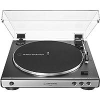 Audio Technica 铁三角 AT-LP60X-GM 全自动皮带驱动立体声转盘,高保真,2 速,防尘盖,防共振…