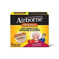 Schiff 旭福 Airborne 维生素C 1000毫克/次 Airborne 浆果味泡腾片(一盒30粒) 无麸质 补充剂 富含抗氧化剂