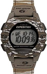 Timex x Mossy Oak 男士探险数字 CAT 40 毫米手表 – 原装底陆迷彩面料表带
