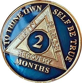 Ranger Industries 2 个月 AA *章金属午夜蓝三板 60 天 Sobriety 芯片