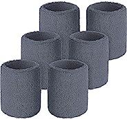 手腕吸汗带 - 运动男女通用运动腕带 - 柔软吸汗棉绒布带适用于网球、篮球、棒球、橄榄球、跑步、锻炼和锻炼 - 3 双装