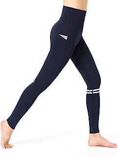 A&J 高腰大口袋瑜伽裤收腹锻炼跑步 4 向弹力瑜伽打底裤