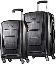 Samsonite Winfield 2 行李箱2件套 帶萬向輪 黑灰色 20+24寸