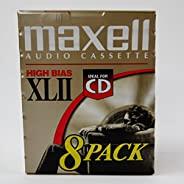 MAXELL XLII 音频盒 - 8 包 -90 分钟 - 高偏差