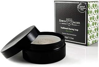 Edwin Jagger 99.9%天然剃须皂(芦荟),旅行木桶装,2.3盎司,65克