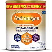 meadjohnson 美赞臣 enfamil 铂睿 Nutramigen Lactose & Milk Free 低变应原婴儿奶粉,27.8盎司,788克-Omega 3 DHA,益生元,支持吸收系统和抵抗能力