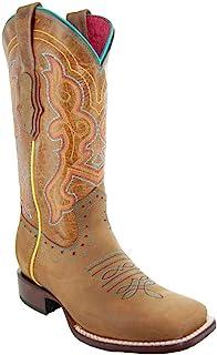 Soto Boots 女式 Ana 方形女牛仔头靴 M9002