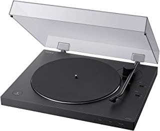 Sony 索尼 PS-LX310BT 唱片机,皮带驱动器转盘:带有蓝牙和USB输出的全自动无线黑胶唱片播放器