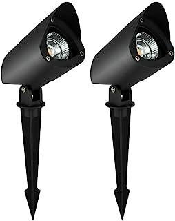INTEIN NI 0500CAP 景观照明 景观灯 10W 12V 低电压景观灯 适用于树草坪和花园,暖白色(2 件装)