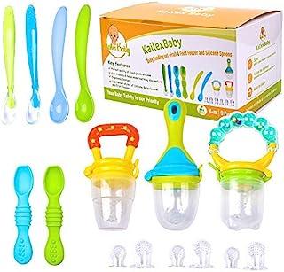 KailexBaby 婴儿喂食套装 - 勺子、水果、食物喂食器 奶嘴