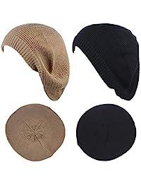 女式贝雷帽时尚轻便针织纯色