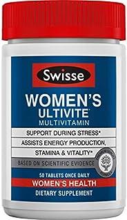 Swisse 优质Ultivite每日女士复合维生素,富矿物质| 维生素A,维生素C,维生素D,生物素,钙,锌等| 50片