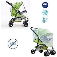 婴儿车防雨罩和蚊帐套装,婴儿车防风雨罩和婴儿蚊帐(2 件套)防水、防风保护 - 方便旅行、户外使用 - 易于安装和拆卸